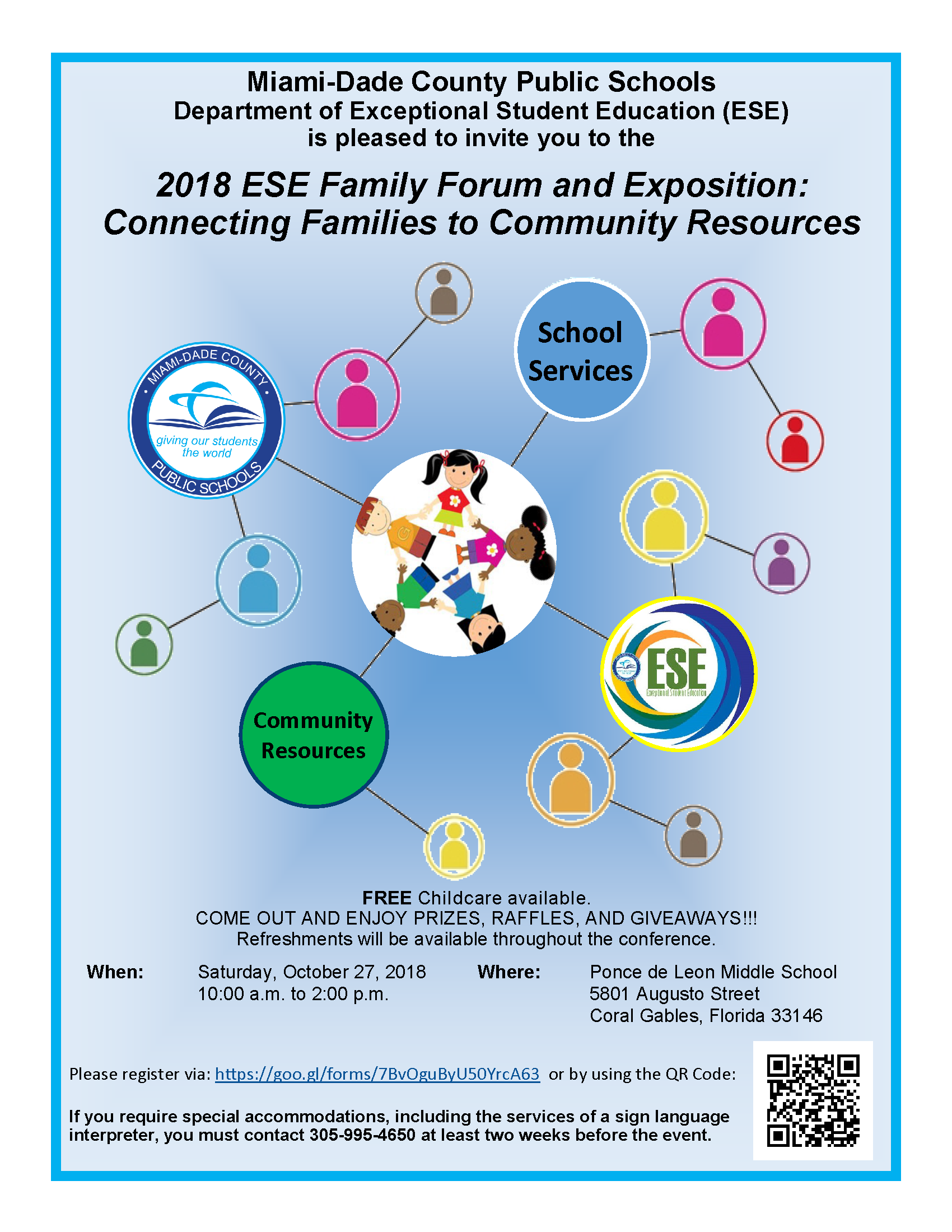 2018 ESE Family Forum and Exposition @ Ponce de Leon Middle School | Coral Gables | Florida | United States